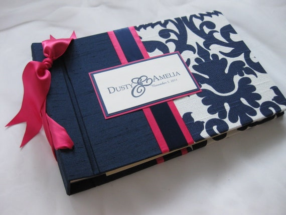 Wedding Guest Book or Album-Ashley Navy Design