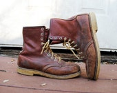 RESERVED for Mitch Vintage RED WING boots / vintage work boots / leather ankle boot / 70s red wing / size 8 men's 9.5 women's