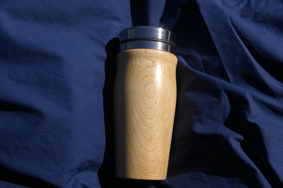 Hard Maple wood Travel mug stainless steel