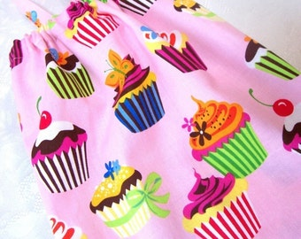 Bag Holder - Plastic Bag Dispenser - Plastic Grocery Bag Holder - Extra Large - Pink Cupcakes