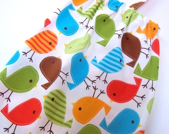 Fabric Plastic Bag Holder- Grocery Bag Holder - Plastic Bag Dispenser - Tweet Birds