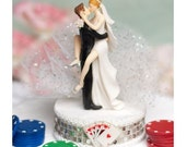 Funny Sexy Las Vegas Wedding Cake Topper - Custom Painted Hair Color Available - 100200