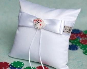 Las Vegas Wedding Ring Bearer Pillow - 750200
