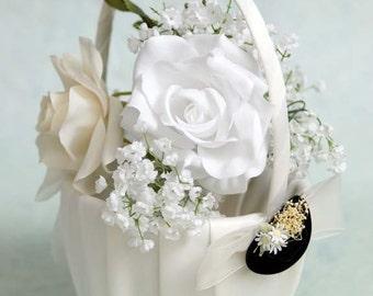Cowboy Hat Western Wedding Flower Girl Basket - C80115