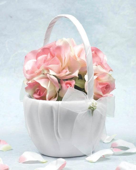 Flower Basket For Flower Girl Wedding : Calla lily bouquet wedding flowergirl basket c