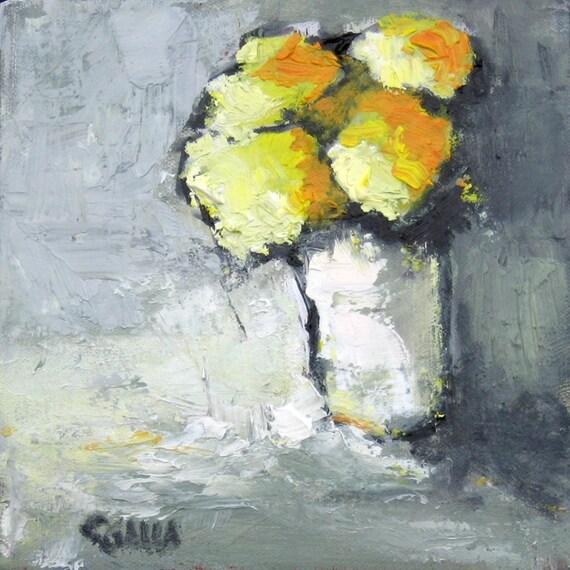 Lemon Heads  Oil on Canvas Original 8x8