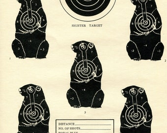 Vintage Shooting Targets