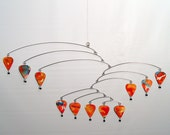 Hanging Mobile Art -Hot Air Balloon Watercolor - Kinetic Artistic Sculpture