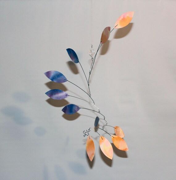 Hanging Mobile - Kinetic Mobile Sculpture - Calder Style Art Mobile - 91531618