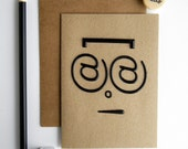 Geek emoticon card