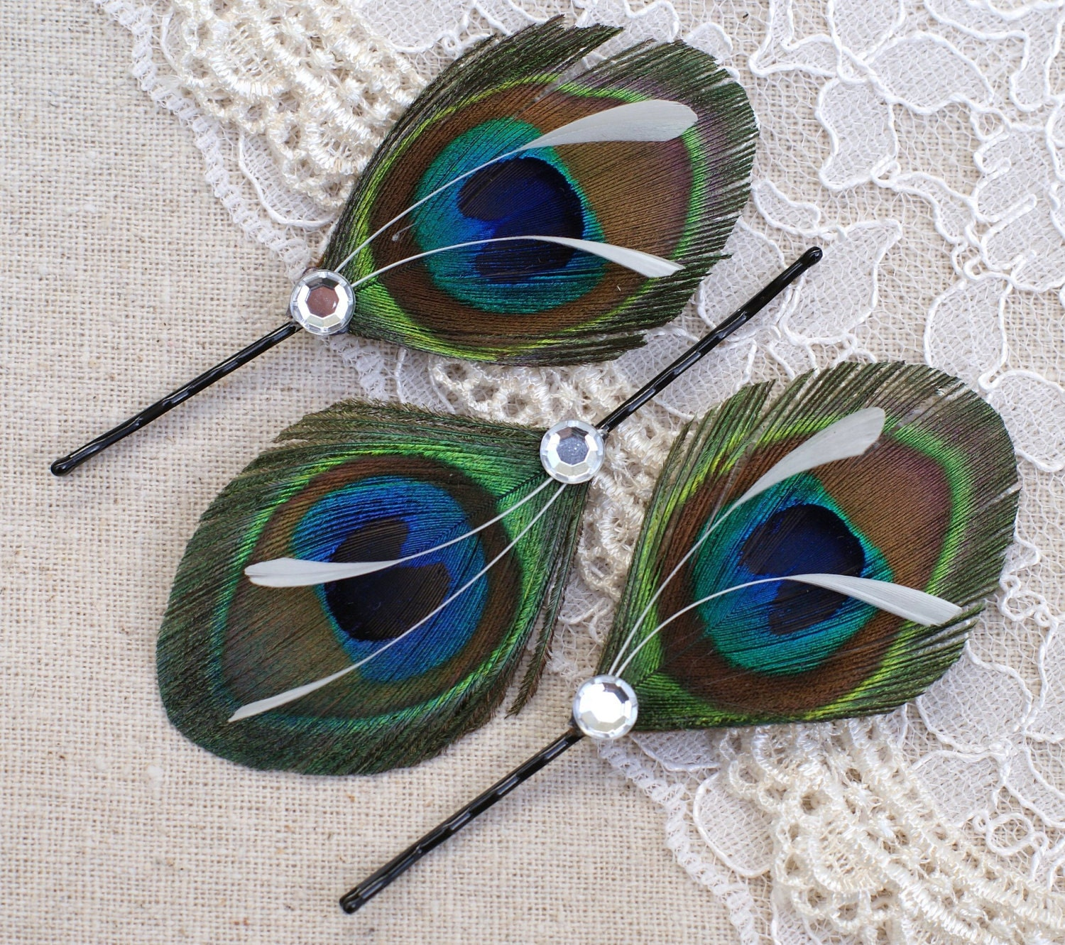 Peacock Wedding Gifts: 4 Bridesmaid Gifts Hair Pieces Peacock Peacock Wedding