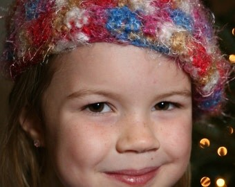 Fun and  Fuzzy Multi-Colored Patriotic Youth Beret - 67