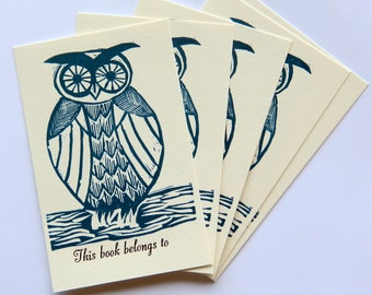 little owl bookplates pk 5