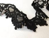 Truly UNIQUE Vintage Black HEARTS Trim