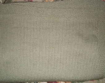 Hand Knitted Child Afghan/Lap Robe