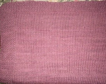 Hand knitted cotton child afghan
