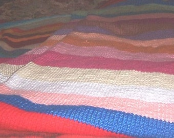 Hand knitted Caron Simply Soft full/queen afghan