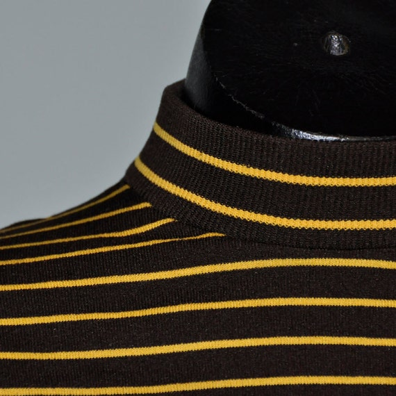Full Fashioned Striped Turtleneck