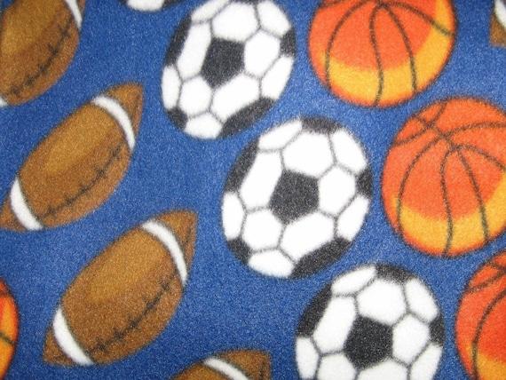 Soccer Football Basketball  Snuggie Big Kids Size Fleece Blanket
