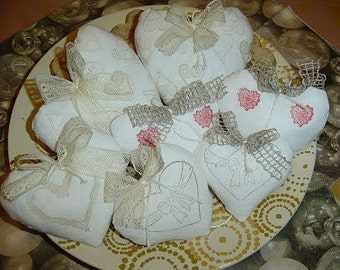 Shabby Chic Antique style Paris Heart