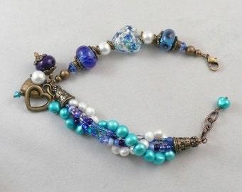Blue Heart Bracelet