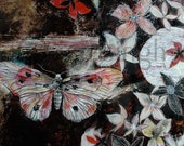 Moth ghostly flowers-Large Archival Print, Lovely Spirit