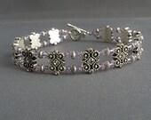 Violet Crystal Double Strand Bracelet