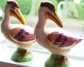 SALT AND PEPPER VINTAGE SET - PELICANS MARKED JAPAN - SOLD AS IS