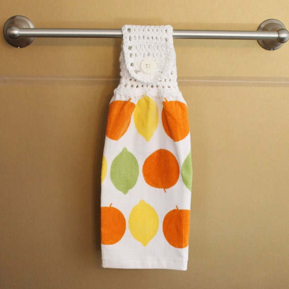 Citrus Themed Crocheted Top Towel-KOW87
