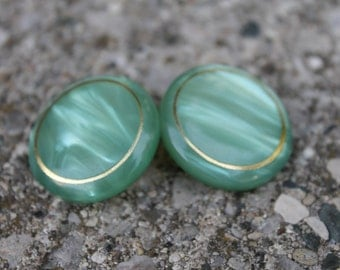 Atomic Era vintage Lucite swirl sea foam green french cufflinks mod 60s mad men