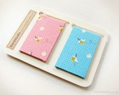 Magnetic Fabric Bookmarks - Honey Bee -