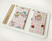 Magnetic Fabric Bookmarks - Cute Bird -