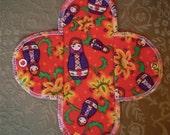 Cotton Flannel Menstrual Pads Regular Pad RED MATRYOSHKA