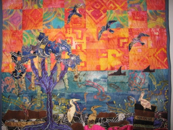 Birds on the Bayou Wall Quilt