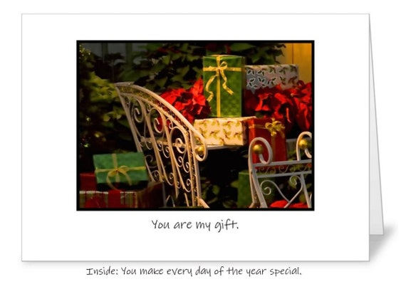 You are my gift Christmas 5 x 7 greeting card