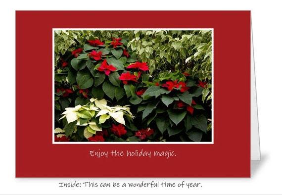 Enjoy the holiday magic 5 x 7 Christmas greeting card FREE SHIPPING
