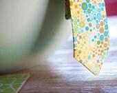 Retro Child Size Necktie- Mustard, Olive, Aqua Blue- The Greg Brady