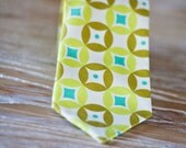 Lime, Olive, and Turquoise Child Necktie-The Green Machine