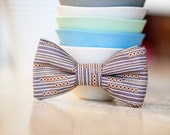 Bow Tie For Boys- Plum Clip On