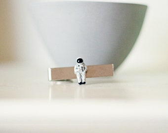 Astronaut Tie Clip for Adult or Child- Tie bar for boy or man