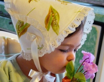 "New Baby Bonnet  Sun Hat ""My Sweet Lilly"" Lovely CM"