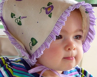 "New Baby Bonnet Sun Hat ""My Morning Glory"" CM"