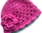 Crochet Baby Hat, Baby Girl Hat, Toddler Crochet Hat, Baby Girl, Crochet Hat, Baby Hat, Hot Pink Hat, Pink Hat, Baby Beanie, MADE TO ORDER