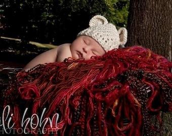 Infant Crochet Hat with Ears, Crochet Beanie Hat with Ears, Baby Girl, Baby Boy, Crochet Hat, Newborn Crochet Hat, Winter Hat, MADE TO ORDER