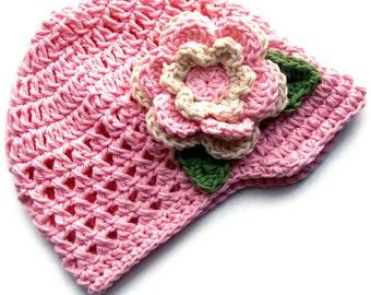 Crochet baby Hat, Girls Crochet Visor Hat,  Crochet Visor Beanie,  Baby Girl Hat with Flower,  Summer Hat, Winter Hat,Custom MADE TO ORDER