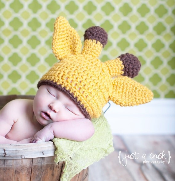 Crochet Hat Pattern Baby Giraffe Beanie Hat : Baby Giraffe Hat Crochet Giraffe Hat Baby Animal Hat by ...