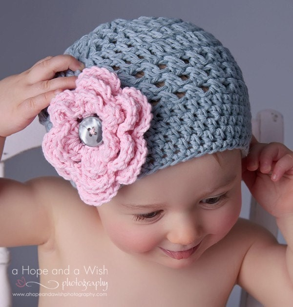 Free Crochet Patterns For Baby Girl Beanie : Baby Hat Baby Girl Crochet Hat Toddler Crochet Beanie Hat