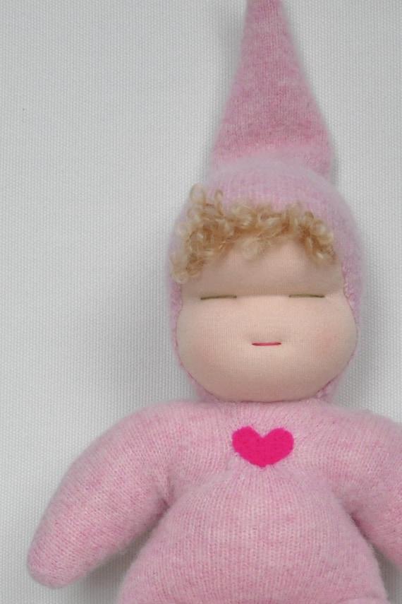 Baby Mia - Pink Sweetheart Baby- Waldorf Doll