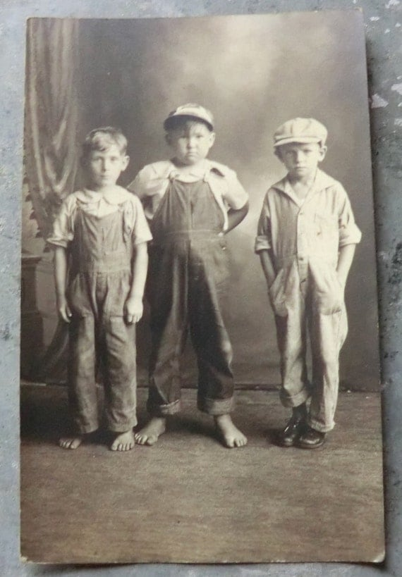 Reserved For Kbuda Barefoot And Overalls 3 Boys 1920 S