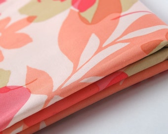 Vintage Pink Abstract Floral Fabric Yardage